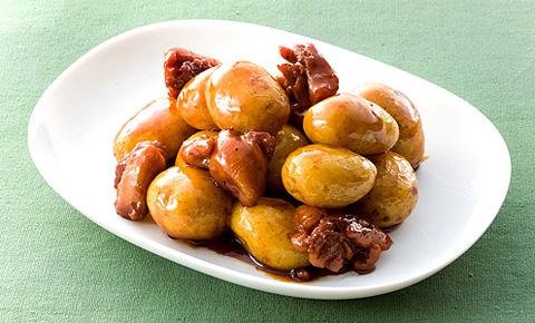 新ジャガイモと鶏肉の甘辛煮レシピ