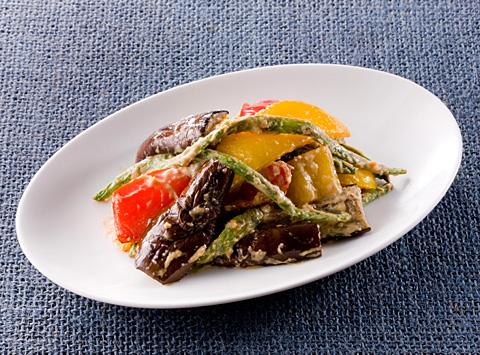 半干し夏野菜の辛味あえ レシピ