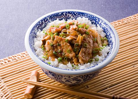ポークジンジャー丼 レシピ