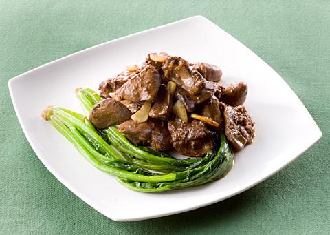 鶏レバーとほうれん草の中華レシピ