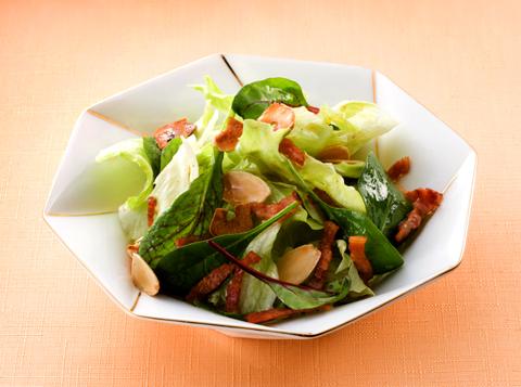グリーンサラダ・ベーコンソース レシピ