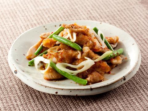 豚肉といんげんの豆板醤炒め レシピ