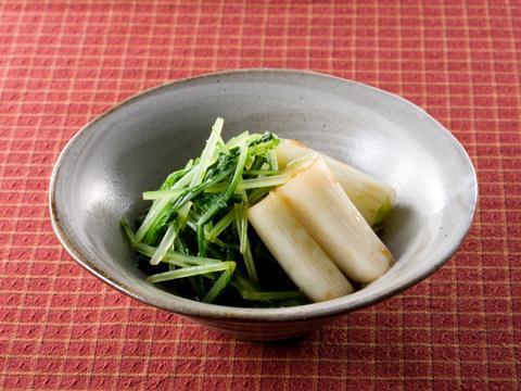 水菜とねぎの辛子和え レシピ