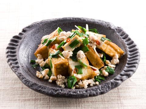 厚揚げとひき肉のピリ辛炒め レシピ