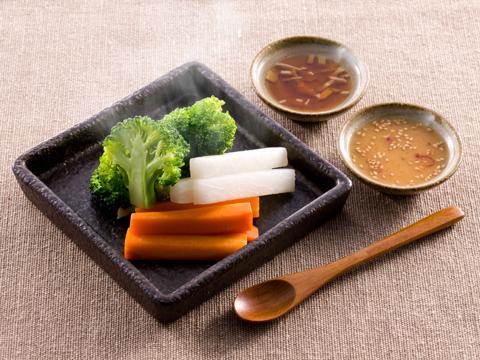 温野菜の温かいドレッシング レシピ