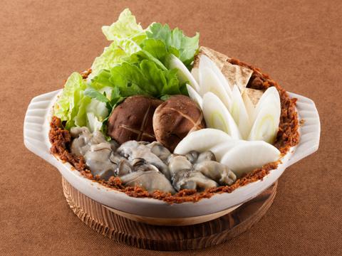 牡蠣の土手鍋 レシピ